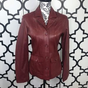 Mossimo Red Leather Jacket